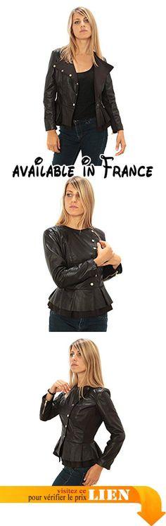 B074KMWNTT : Femme véritable Veste en cuir Made in Italy. Veste en cuir Made in Italy. Veste en cuir de haute qualité. Idéal pour les saisons automne-printemps. Tableaux SECOURS Description. Excellent rapport qualité-prix