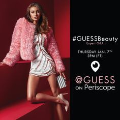 From guess - Hey beauties Join us tomorrow at 3pm (PT) on Periscope for a LIVE #GUESSBeauty Q&A with resident experts @nina_park @peterbutlerhair  #GUESSGirl @khmidan_yara  Leave your questions in the comments below and we just might answer them!