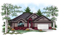 House Plan 73437 | Traditional Plan with 1409 Sq. Ft., 2 Bedrooms, 2 Bathrooms, 3 Car Garage