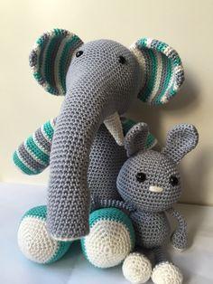 Otto de olifant en konijn (gehaakt)