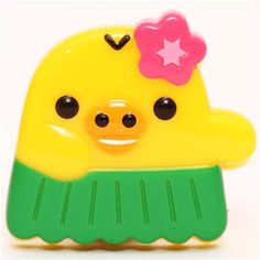 yellow chick Aloha Rilakkuma with hula skirt clip peg