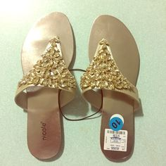 Gold flats. NEW size 10 Brand new,without box. Shoes Flats & Loafers