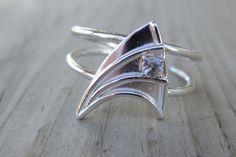 Geeky Star Trek wedding ring.