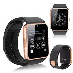 507d77c637ab YEMON Smart Watches Bluetooth with Camera Compatible with Iphone Android  That Can Text Rose Gold   Silver   Grey (Rose Gold