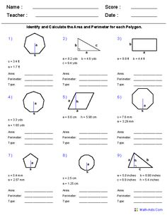 Area and Perimeter Worksheets