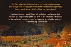 Stephen King's Quote About Fall