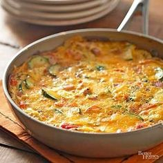The Anything Frittata--Serve a next-day brunch you and your out-of-town guests will love. This turkey-and-veggie frittata takes just 25 minutes to make. You can substitute any kind of meat for this! Egg Recipes, Turkey Recipes, Brunch Recipes, Great Recipes, Breakfast Recipes, Cooking Recipes, Favorite Recipes, Healthy Recipes, Breakfast Ideas