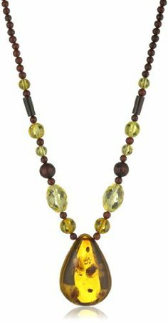 "Multicolor Amber Faceted Bead Necklace with Honey Amber Pendant Necklace , 18"" Amazon Curated Collection. $99.00. Gemstones may have been treated to improve their appearance or durability and may require special care.. The natural properties and composition of mined gemstones define the unique beauty of each piece. The image may show slight differences to the actual stone in color and texture. May be washed with warm, soapy water. Save 34% Off!"
