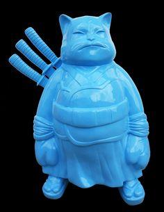 Hiro ANDO, Samurai Light Blue, 50 x 100 x 150 cm, résine