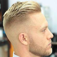 27 Beautiful Crew-cut Hairstyles for Men Crew-cutting is one of the popular . - 27 Beautiful Crew-Cut Hairstyles for Men The crew cut is one of the most popular short haircuts for - Mens Haircuts Short Undercut, Short Mens Hairstyles Fade, Popular Short Haircuts, Hairstyles Haircuts, Haircuts For Men, Crew Cut Haircut, Mid Fade Haircut, Tapered Haircut, Short Beard