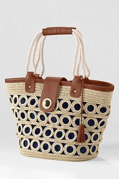 Women's Straw Market Tote Bag from Lands' End