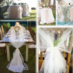 Tulle Wedding Decorations, Pew Decorations, Prom Decor, Fabric Yarn, Tulle Fabric, Fabric Material, Tulle Rolls, Tulle Curtains, White Tulle