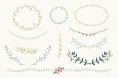 Vintage Laurel & Wreath design elements