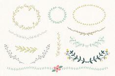 Vintage Laurel & Wreath design elements