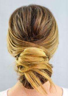 How to Do a Chignon Bun – Easy Chignon Hair Tutorial Short Hair Ponytail, Braided Bun Hairstyles, Easy Hairstyles, Pretty Hairstyles, Wedding Hairstyles, Elegant Hairstyles, Classic Hairstyles, Creative Hairstyles, Hairstyle Ideas