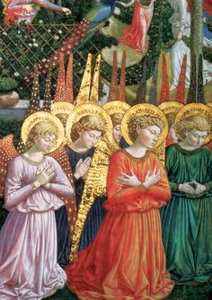 Angels, by Benozzo Gozzoli, Italian Renaissance painter from Florence.