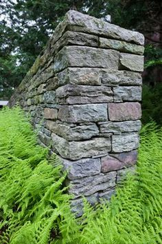 pennsylvania fieldstone wall smith point residence landscape architect h keith wagner. Black Bedroom Furniture Sets. Home Design Ideas
