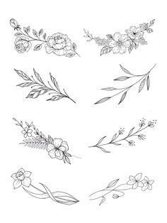 Tiny Flower Tattoos, Flower Tattoo On Ribs, Delicate Flower Tattoo, Chest Tattoo Flowers, Small Pretty Tattoos, Floral Tattoo Design, Flower Tattoo Designs, Small Tattoo Designs, Back Of Shoulder Tattoo