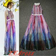 The peacock print dress