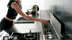 seamless hidden storage by Valcucine