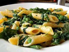 #Pasta Primavera mit #Spinat #nudeln #spinach #snowpea