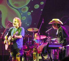 Bob Weir and Bob Dylan (With Bill Kreutzmann in the background), 7/30/03
