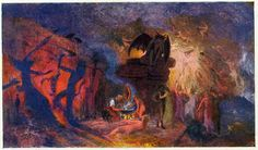 Walpurgishalle Hexentanz - painting inside the Walpurgis Hall in Thale, Germany