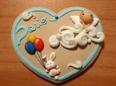 #polimerclaycreation #rubbit #bunny #angel #baby #medaglionenascita #fimo #cernit
