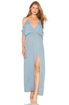 Lovers + Friends Effortless Maxi Dress in Dusty Blue