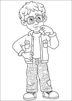 Brandweerman Sam Kleurplaten voor kinderen. Kleurplaat en afdrukken tekenen nº 30