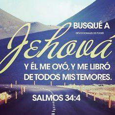 """""""Busqué al SEÑOR, y El me respondió, y me libró de todos mis temores. Los que a El miraron, fueron iluminados; sus rostros jamás serán avergonzados""""...Salmos 34:4-5"""