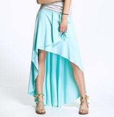 Jupe longue sexy asymétrique amande femme top qualité ALORE AL28 34 36 38 40 42