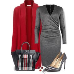 """Red & Gray"" by nansg on Polyvore"