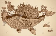 City On a Whale  www.steampunktendencies.com