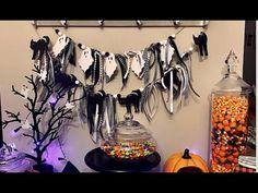 Halloween Candy Bar & DIY Dollar Tree Banner | Daily with Jules Halloween Candy Bar, Halloween Banner, Craft Kits, Dollar Tree, Holiday, Diy, Crafts, Vacations, Manualidades