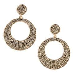 Women's Baublebar Octavia Hoop Earrings ($42) ❤ liked on Polyvore featuring jewelry, earrings, hematite, baublebar jewelry, baublebar, geometric jewelry, geometric earrings and earring jewelry