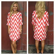 872d8849b3de4 Red White Chevron Print Shift Dress Chevron Dress, Print Shift, Red And  White,