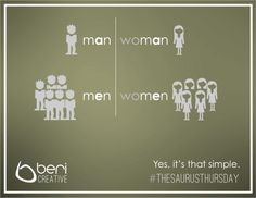 WOMAN vs WOMEN - Common spelling mistakes made easy to remember by the #WordWizard. http://bericreative.com/thesaurusthursday-7/