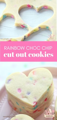 Recipe for rainbow chocolate chip rollout sugar cookies. Thank you to for making them! Roll Out Sugar Cookies, Cut Out Cookie Recipe, Fancy Cookies, Iced Cookies, Cut Out Cookies, Sugar Cookies Recipe, Cake Cookies, Cookies Et Biscuits, Cupcake Cakes
