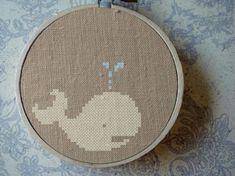 cute whale cross`stitch