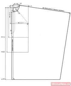 poncho Pattern /Выкройка пончо