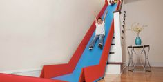 Featured Image for SlideRider: a foldable slide that you can place over your stairs