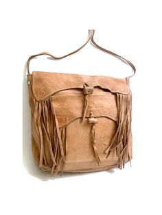 1970 leather fringe bag BOHO by lesclodettes on Etsy, $65.00