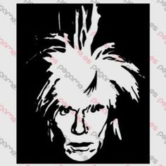 Pegame.es Online Decals Shop #face #celebrity #pop #realistic #andy_warhol #art #vinyl #sticker #pegatina #vinilo #stencil #decal