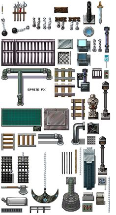 Sprite Fx: RPG Tile Sets Sprite Sheets