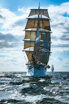 Go Sailing, Get Inspired: Photo Tall Ships, Moby Dick, Old Sailing Ships, Sailing Boat, Pirate Boats, Full Sail, Ship Paintings, Wooden Ship, Tug Boats