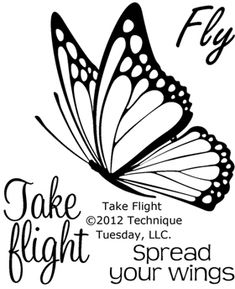 Take Flight (Butterfly) - Clear Stamps