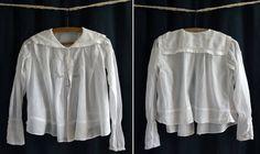 1900 Ancien corsage blancLa Belle Jardinière par SergineBroallier
