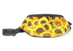 Sunflower Floral fabric Fanny Pack Hip Waist Bag by Chiradesigns