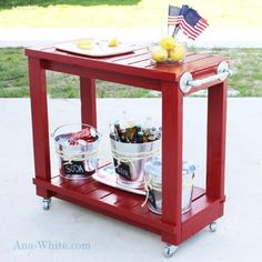 Simple Rolling Bar Cart